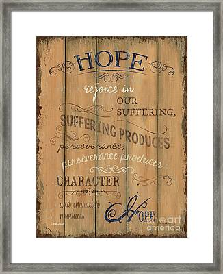 Vintage Wtlb Hope Framed Print by Debbie DeWitt