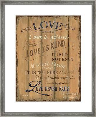 Vintage Wtlb Love Framed Print by Debbie DeWitt