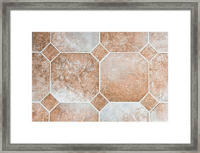 Vinyl Tiles Framed Print by Tom Gowanlock