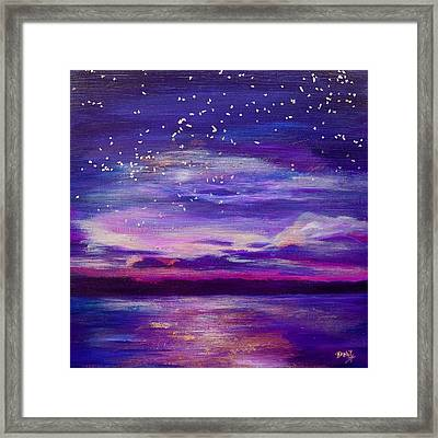 Violet Evening Framed Print by Debi Starr