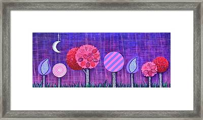 Violet Grove Framed Print by Graciela Bello