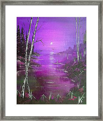 Violet Jamaica Sunrise  Framed Print by Collin A Clarke