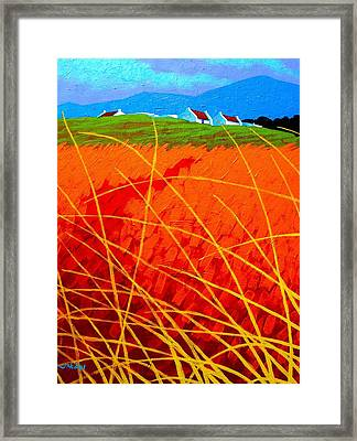 Violet Sky - Wicklow - Ireland Framed Print by John  Nolan