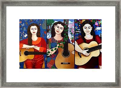 Violeta Parra Collage  Framed Print by Madalena Lobao-Tello