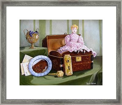 Violets Attic Framed Print by Tanja Ware