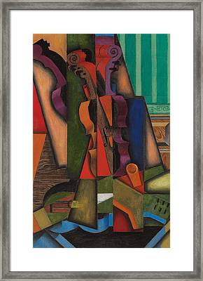 Violin And Guitar Framed Print by Juan Gris