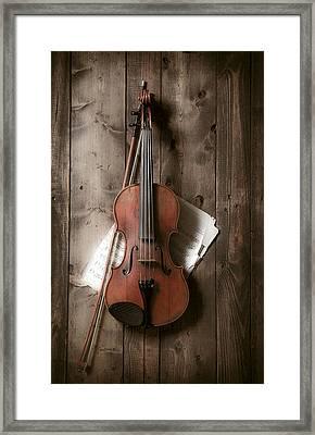 Violin Framed Print by Garry Gay