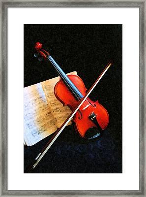 Violin Impression Framed Print by Kristin Elmquist