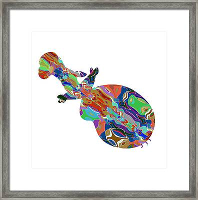 Violin Music Instrument Graphic Abstract Design Colorful Art Framed Print by Navin Joshi