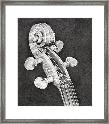 Violin Scroll Framed Print by Remrov
