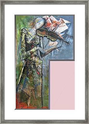 Violinist Woman Framed Print by Giorgi Kobiashvili