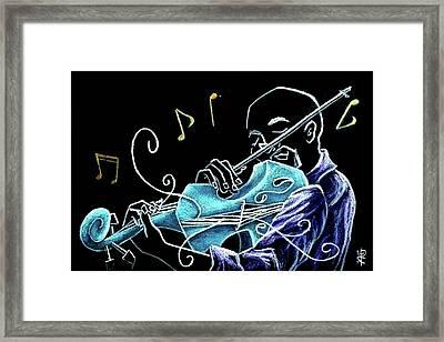 Violinista Gran Caffe Chioggia - Musica Piazza San Marco Framed Print by Arte Venezia