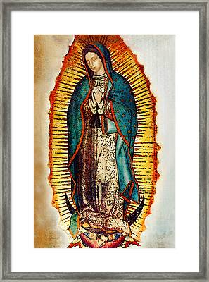 Virgen De Guadalupe Framed Print by Bibi Romer