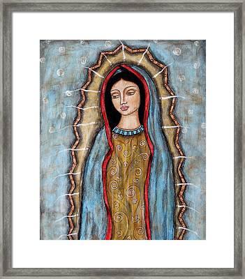 Virgen De Guadalupe Framed Print by Rain Ririn
