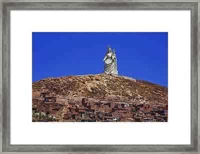Virgen Del Socavon Framed Print by Skip Hunt