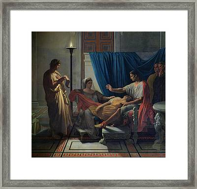 Virgil Reading The Aeneid Framed Print by Jean Auguste Dominique Ingres