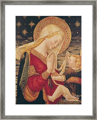 Virgin And Child  Framed Print by Neri di Bicci