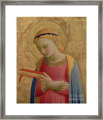 Virgin Annunciate Framed Print by Fra Angelico