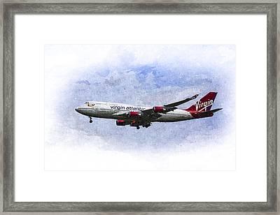Virgin Atlantic Boeing 747 Art Framed Print by David Pyatt
