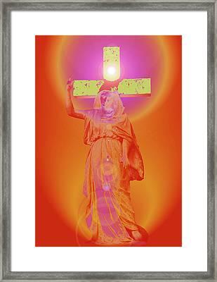 Virgin Mary No. 01 Framed Print by Ramon Labusch