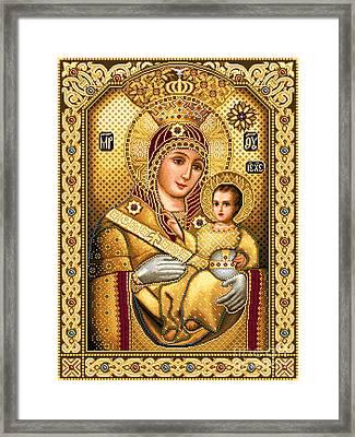 Virgin Mary Of Bethlehem Icon Framed Print by Stoyanka Ivanova