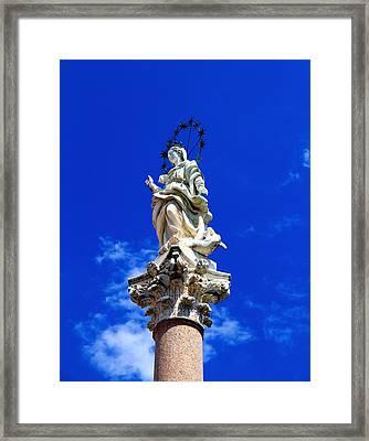 Virgin Mary Statue Framed Print by Valentino Visentini