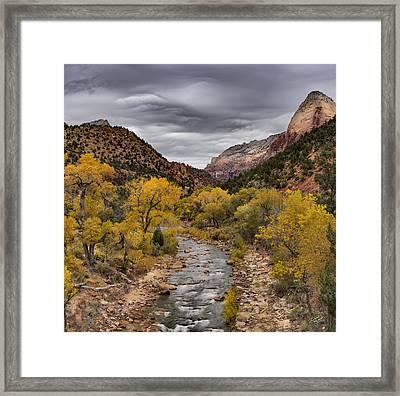 Virgin River Fall Framed Print by Leland D Howard
