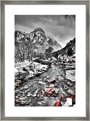 Virgin River Running IIi Framed Print by Irene Abdou