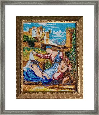 Virgin With The Veil By Rafael Framed Print by Elena Soldatkina