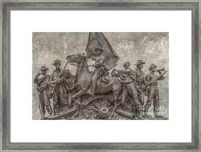 Virginia Monument Gettysburg Battlefield Framed Print by Randy Steele