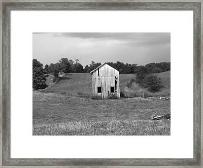 Virginia Shed Framed Print by Michael L Kimble