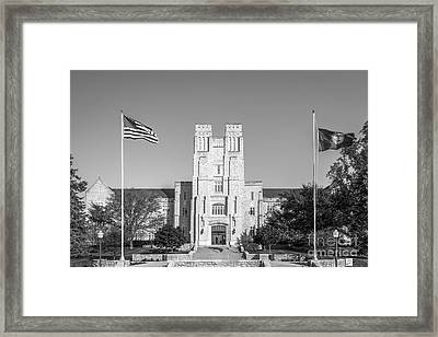 Virginia Tech Burress Hall Framed Print by University Icons