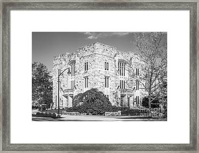 Virginia Tech Newman Library Framed Print by University Icons