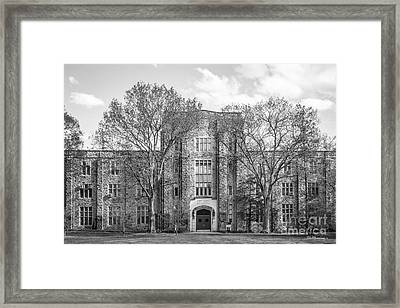 Virginia Tech Seitz Hall Framed Print by University Icons