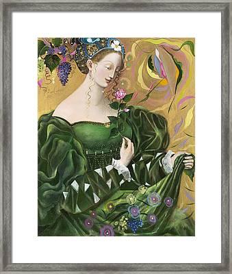 Virgo Framed Print by Annael Anelia Pavlova