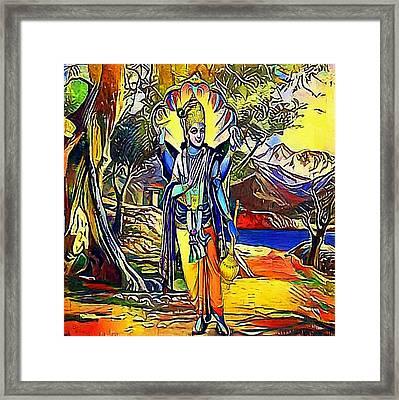 Vishnu, Hindu God - My Www Vikinek-art.com Framed Print by Viktor Lebeda