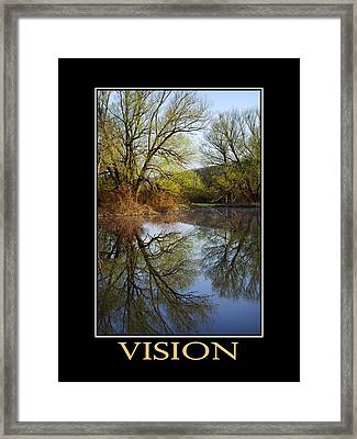 Vision Inspirational Motivational Poster Art Framed Print by Christina Rollo