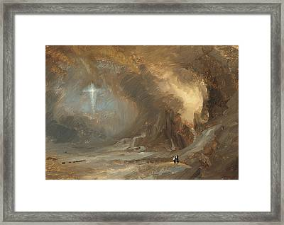 Vision Of The Cross Framed Print by Frederic Edwin Church