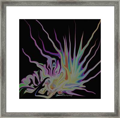 Visionary An Abstract Digital Painting Framed Print by Gina Lee Manley