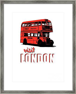 Visit London Tee Framed Print by Edward Fielding