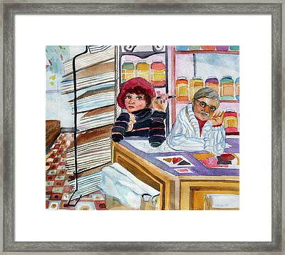 Visiting The  Art Supply Store Framed Print by Mindy Newman