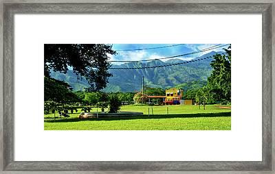 Vista Del Ferrocalejo En Rincon Grande Framed Print by Bibi Romer