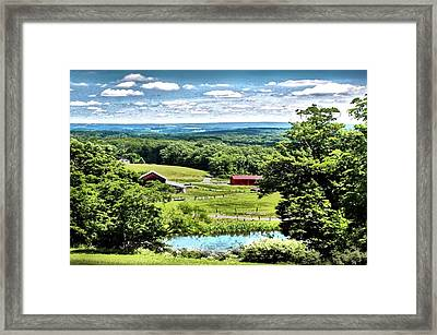 Vista In Preston County Framed Print by Michael Forte