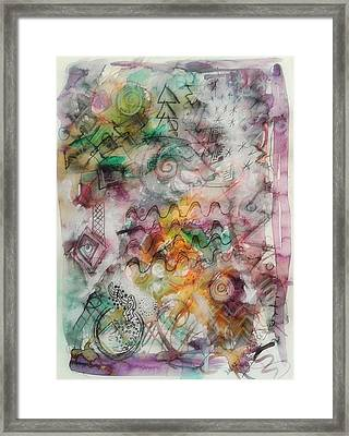 Visual Language Framed Print by Mimulux patricia no