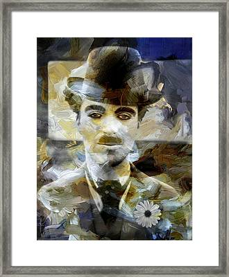 Visual Poems With Charlot Framed Print by Daniel Arrhakis