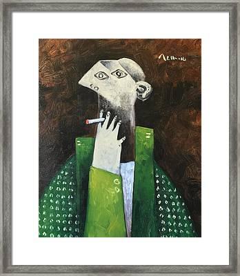 Vitae The Smoker Framed Print by Mark M Mellon