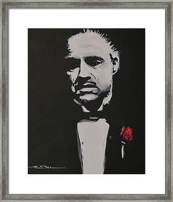 Vito Andolini Corleone Framed Print by Eric Dee
