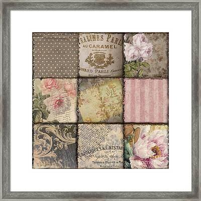 Viva La France II Patchwork Framed Print by Mindy Sommers