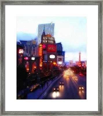 Viva Las Vegas Painting Framed Print by Steve K