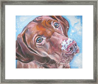 Vizsla Framed Print by Lee Ann Shepard